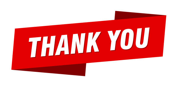 thank you banner template. thank you ribbon label sign vector art illustration
