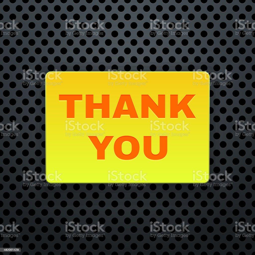 Thank You Banner. Vector royalty-free stock vector art