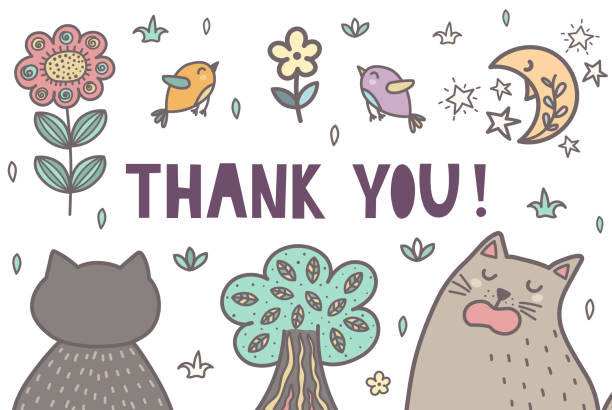 Best Cat Thank You Illustrations, Royalty-Free Vector ...