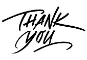 istock Thank You Calligraphic Inscription. Calligraphic Lettering Design Template. Creative Typography for Greeting Card, Gift Poster, Banner etc. 1253730621