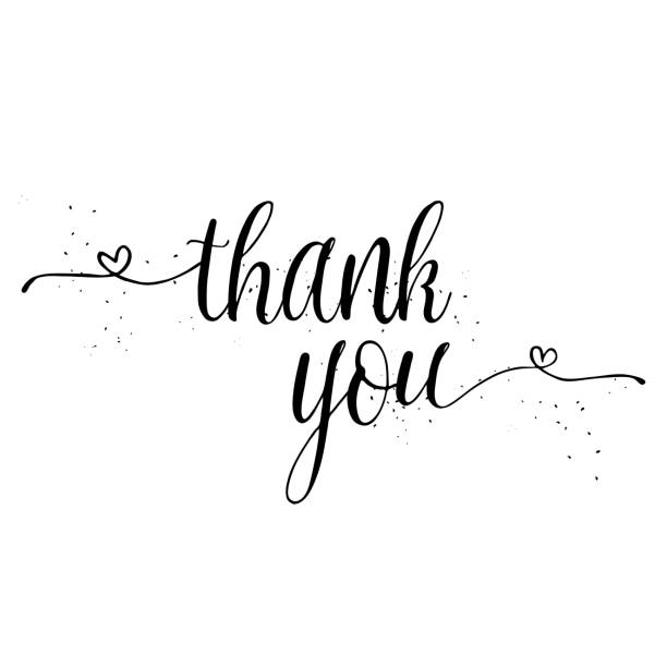 thank you calligraphy sign. brush painted letters. gratitude vector illustration. - thank you background stock illustrations