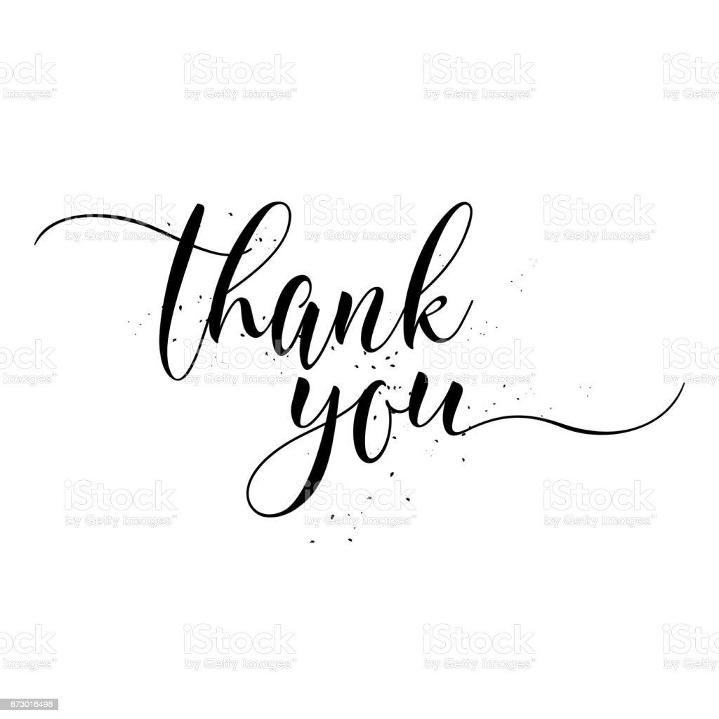 Thank You calligraphy sign. Brush painted letters. Gratitude vector illustration. - Векторная графика Thank You - английское словосочетание роялти-фри