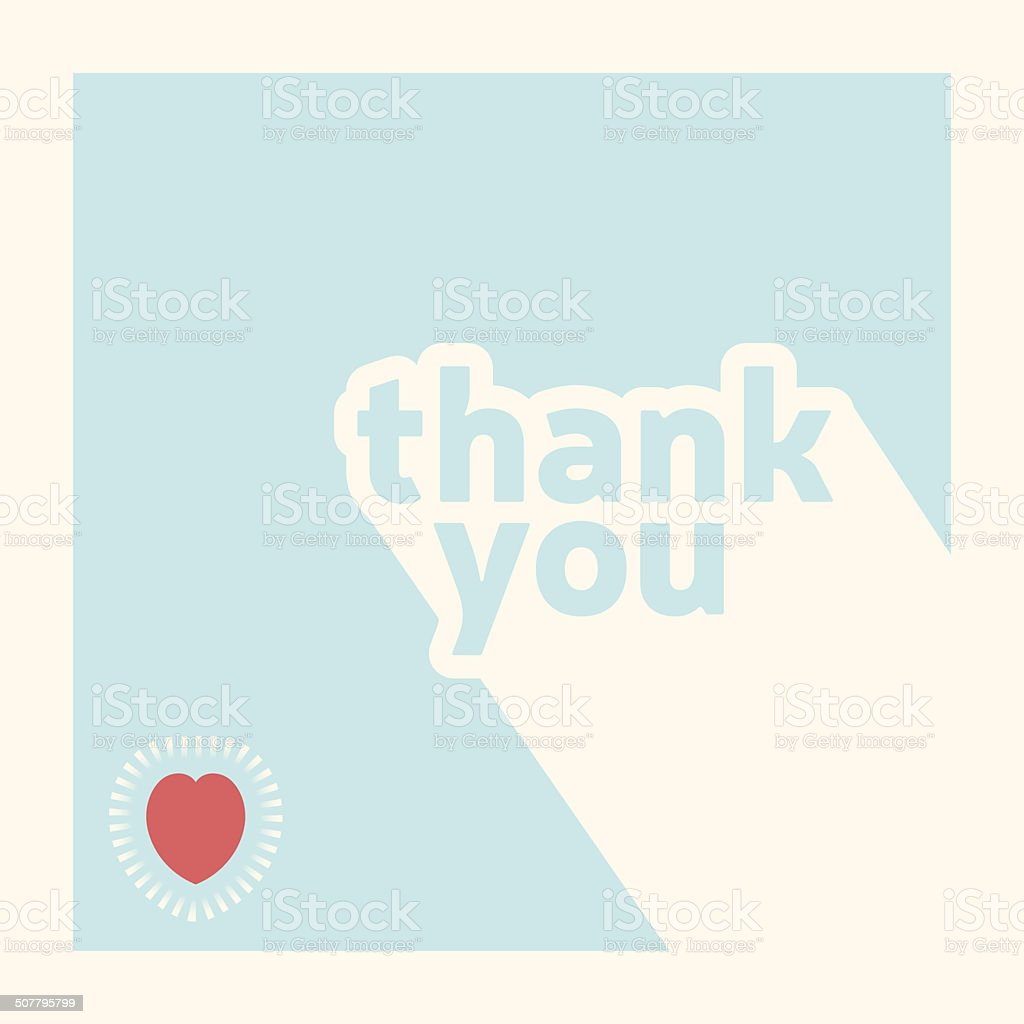 Thank you card design template vector art illustration