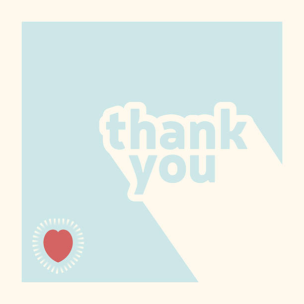 stockillustraties, clipart, cartoons en iconen met thank you card design template - bedankt