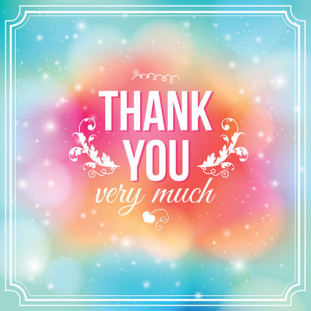 thank you card on soft colorful background - thank you background 幅插畫檔、美工圖案、卡通及圖標