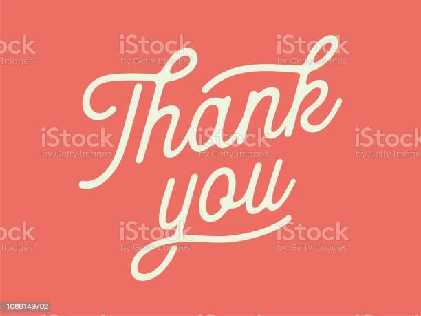 Thank You Card — стоковая векторная графика и другие изображения на тему Thank You - английское словосочетание