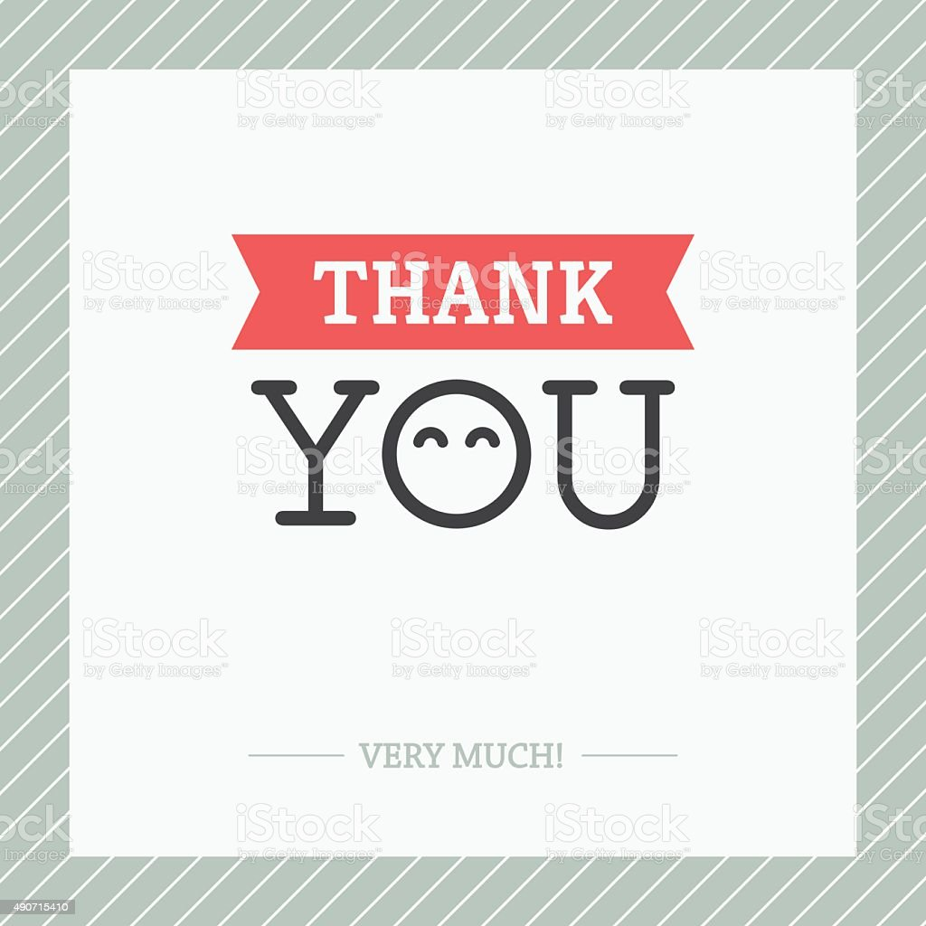Thank You Card vector art illustration