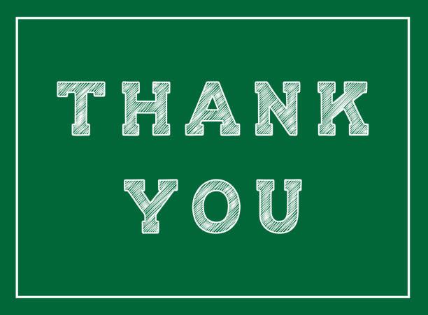 thank you chalk inscription on the blackboard - thank you teacher stock illustrations, clip art, cartoons, & icons