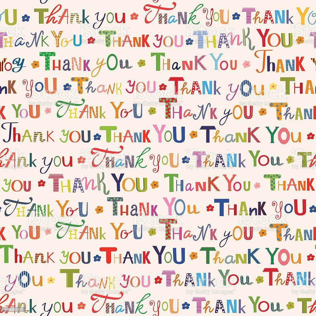 Dziękujemy. Kolorowe bezszwowe wzór - Grafika wektorowa royalty-free (2015)