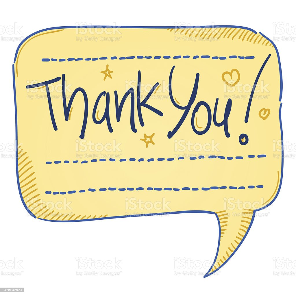 Thank You Comics Bubble royalty-free thank you comics bubble stock vector art & more images of calligraphy