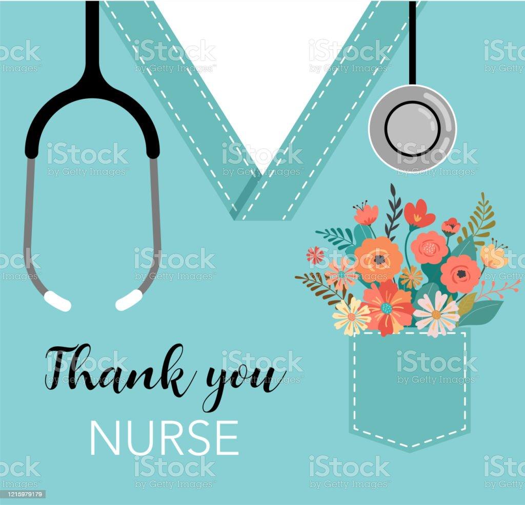 감사합니다 의사와 간호사 - COVID-19 전염병 개념, 벡터 일러스트 - 로열티 프리 0명 벡터 아트