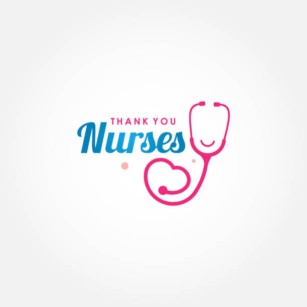 Thank You Doctor, Nurse, Medical Staff Vector For Greeting Design vector art illustration