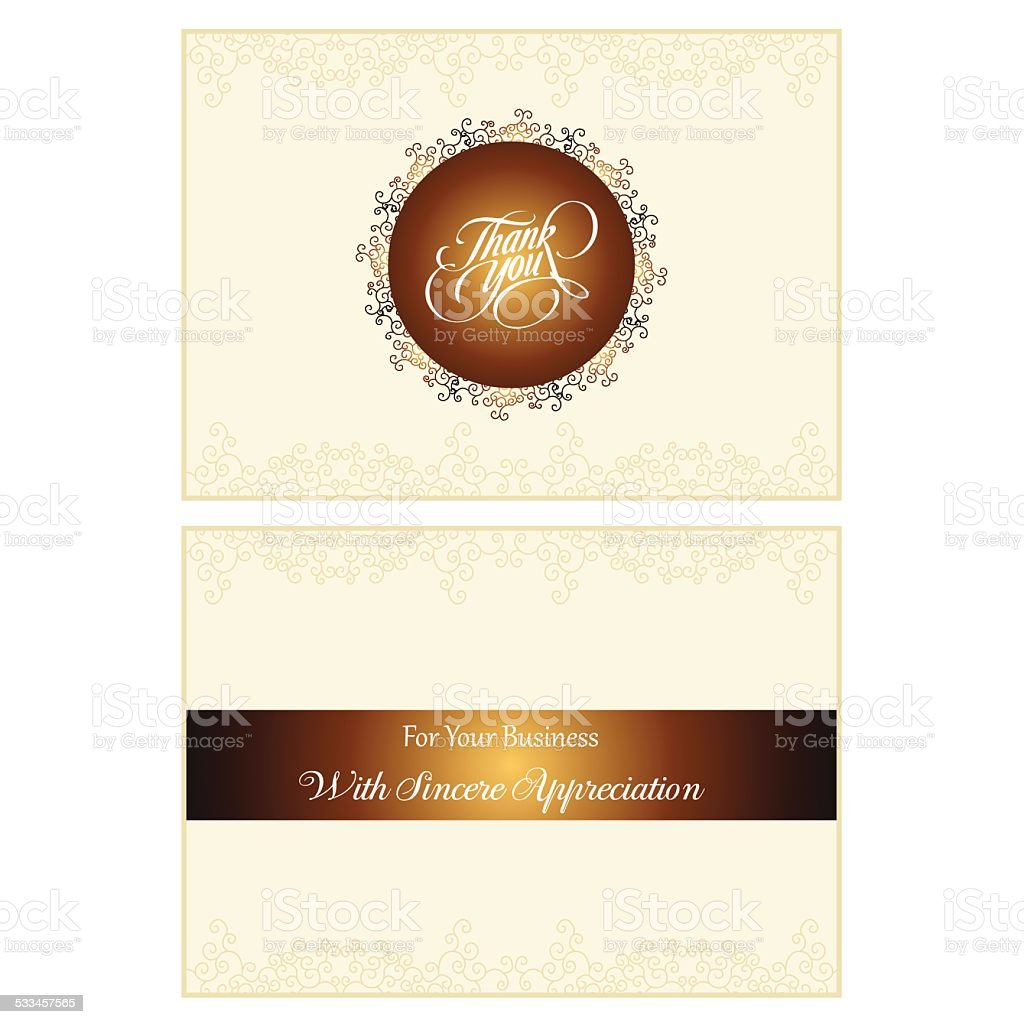 Thank You For You Business Vector Card Illustration