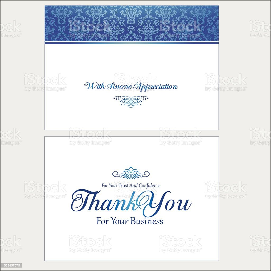 Thank You For You Business Card stock vector art 533457575 | iStock