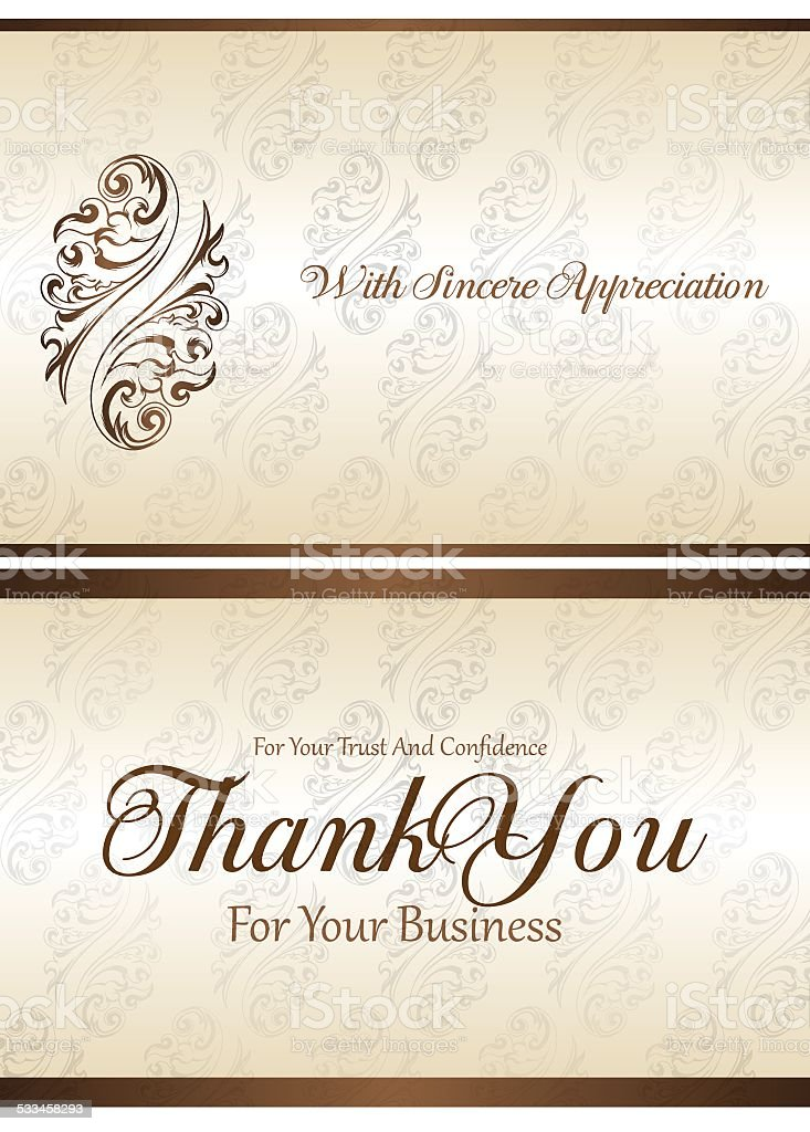 Thank You For You Business Card Stock Vector Art & More Images of ...