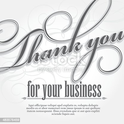 Thank you for your business design card template stock vector art thank you for your business design card template stock vector art more images of business 483576459 istock accmission Images