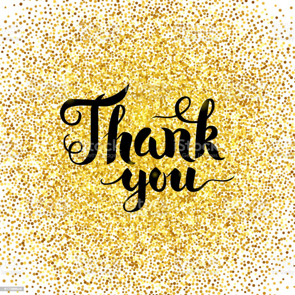 thank you gold greeting card stock vector art  more