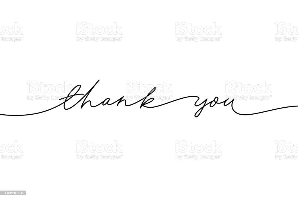 El vektör modern kaligrafi çizilmiş teşekkür ederiz. El yazısı mürekkep illüstrasyon teşekkür ederiz. - Royalty-free Alıntı - Yazı Vector Art