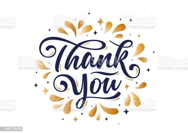 Спасибо Рука Надписи На Праздник День Благодарения — стоковая векторная графика и другие изображения на тему Thank You - английское словосочетание