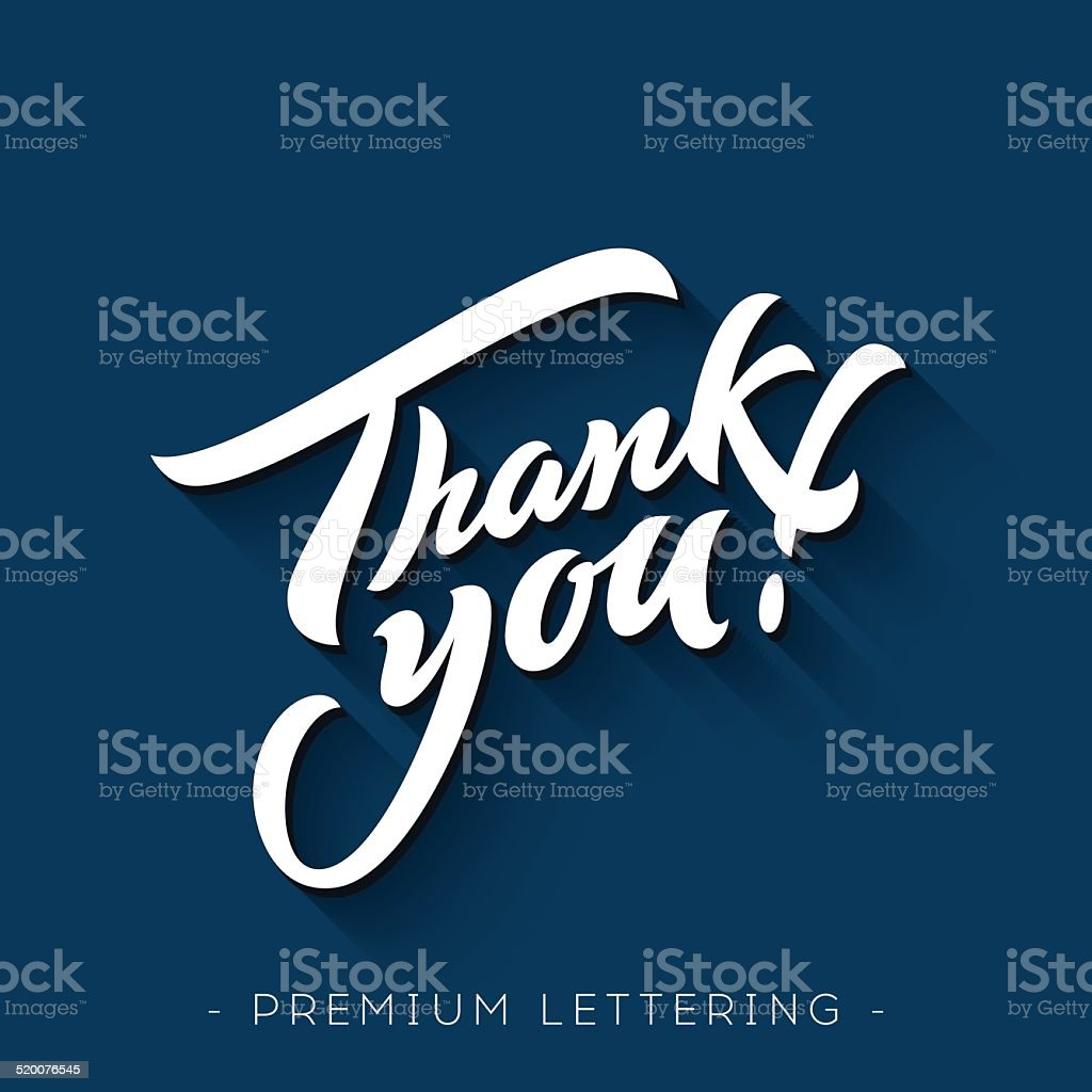 Thank You Hand lettering vector art illustration