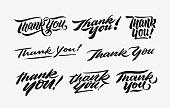 thank you hand written lettering bundle 1