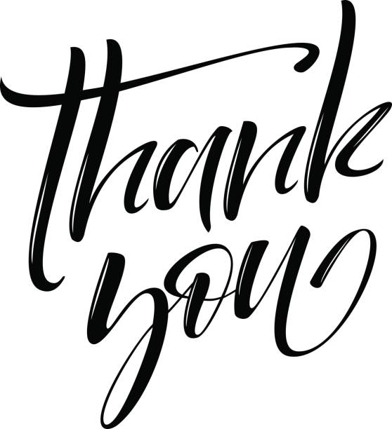 Thank You handwritten inscription. Hand drawn lettering. Thank You calligraphy. Thank you card. Vector illustration. vector art illustration