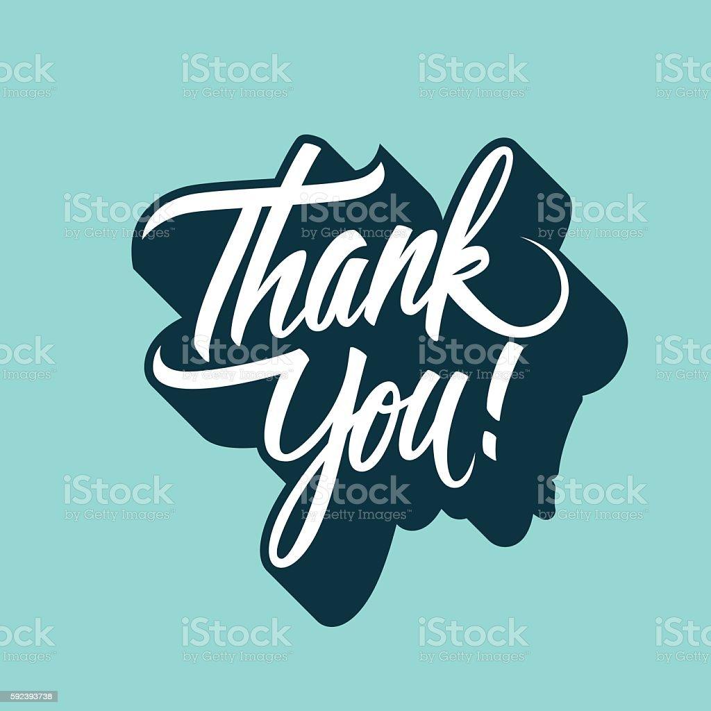 Спасибо вам от руки надпись. Нарисованный от руки». - Векторная графика Thank You - английское словосочетание роялти-фри