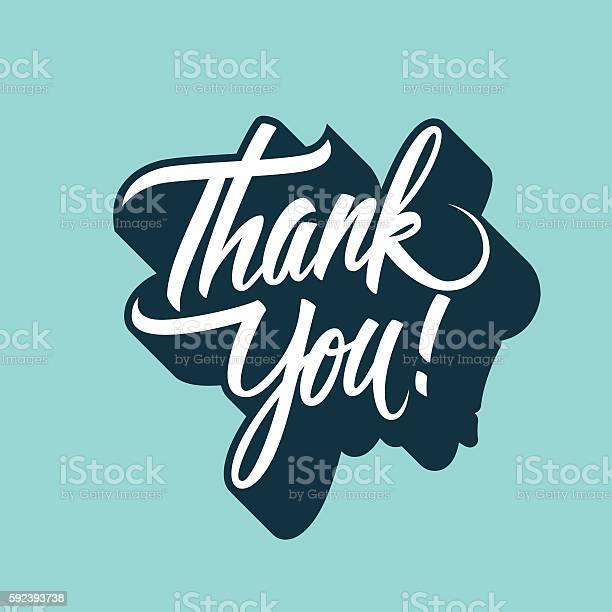 Спасибо Вам От Руки Надпись Нарисованный От Руки — стоковая векторная графика и другие изображения на тему Thank You - английское словосочетание