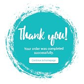 """Vector illustration of the """"Thank you!"""" message."""