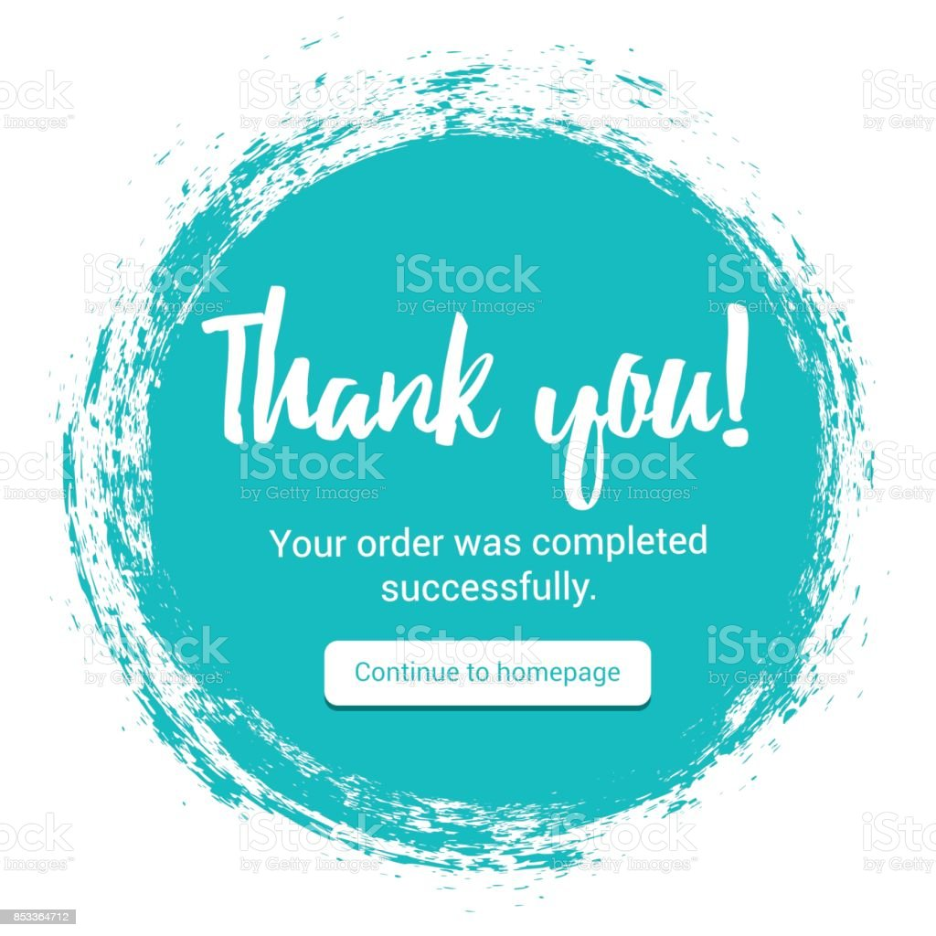 Thank You handwritten inscription. Thank uou page vector art illustration