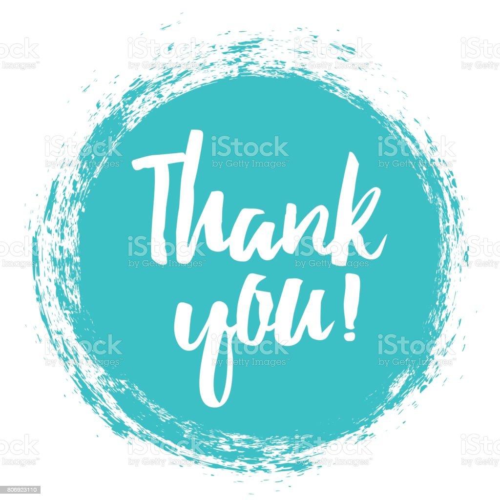 Thank You handwritten inscription. - Векторная графика Thank You - английское словосочетание роялти-фри