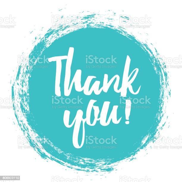 Thank You Handwritten Inscription — стоковая векторная графика и другие изображения на тему Thank You - английское словосочетание