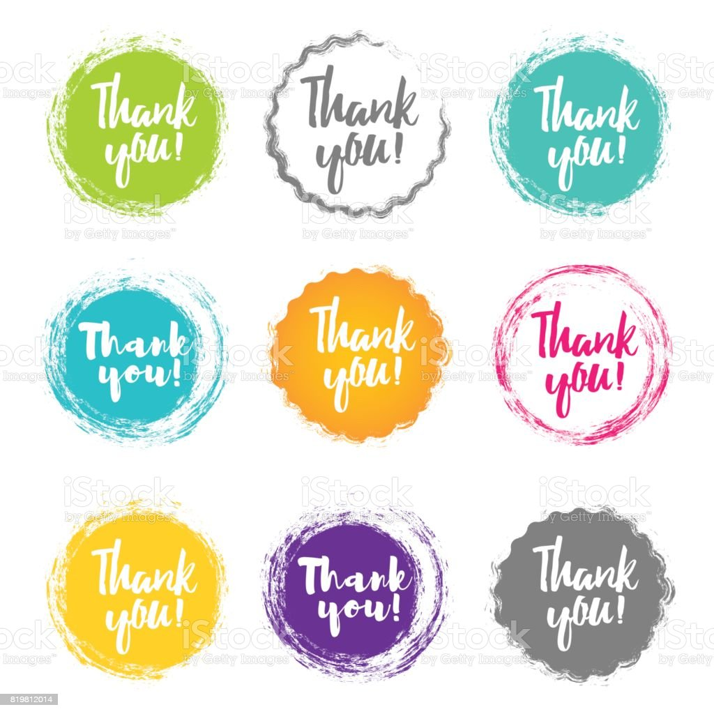 Thank You handwritten inscription. vector art illustration