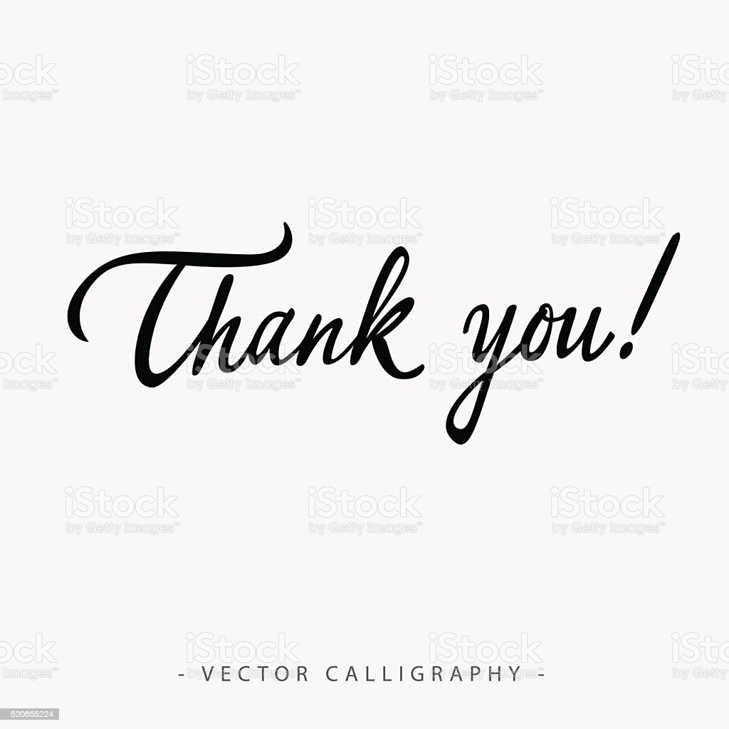 Thank you inscription vector art illustration
