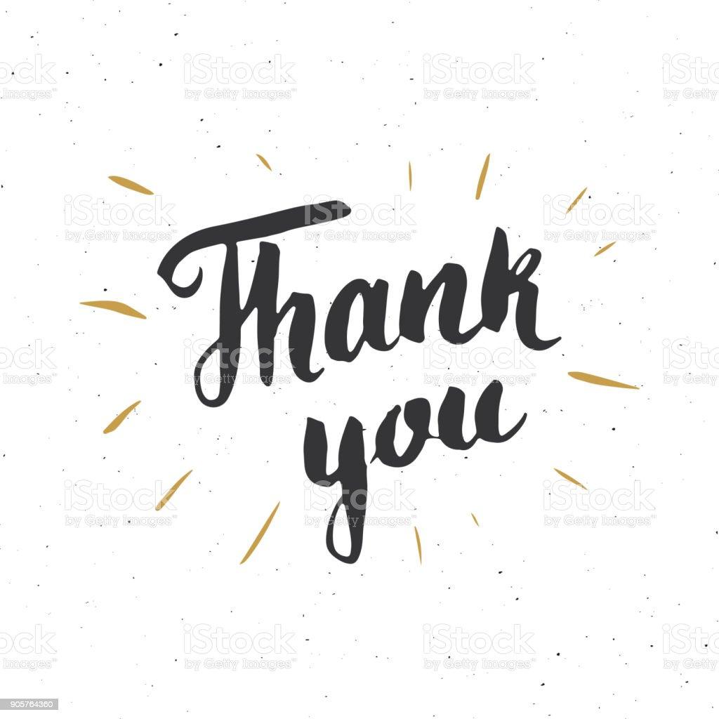 Citaten Schrijven Free : Dank u belettering citaat met de hand getekende kalligrafische teken