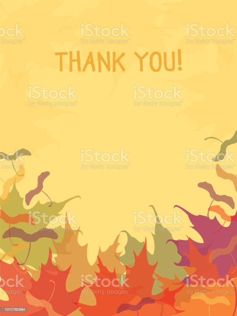 Thank You! Maple Leaves Background. royalty-free thank you maple leaves background stock vector art & more images of abstract