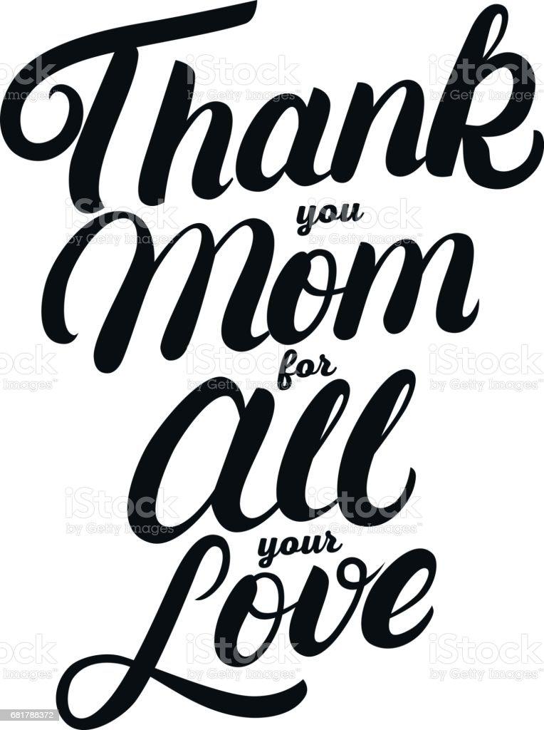 Merci Maman Pour Tout Votre Amour Lettres écrites à La Main