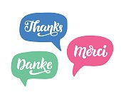 Thank you phrase, hand written lettering