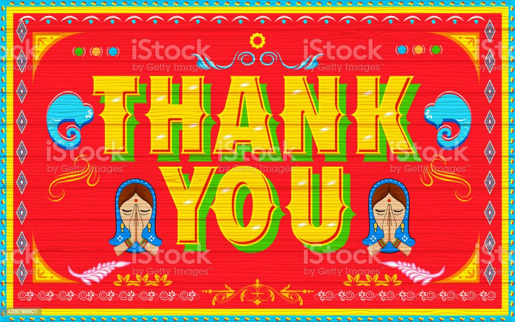 Thank You Poster vector art illustration
