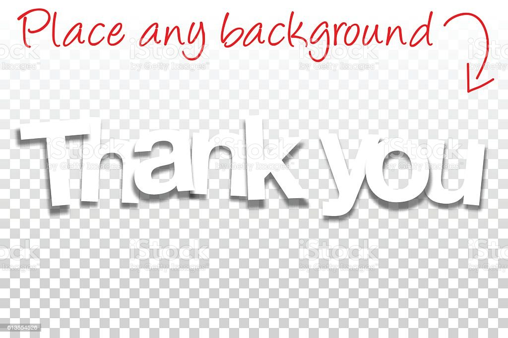 Thank You Sign For Design Paper Font Blank Background