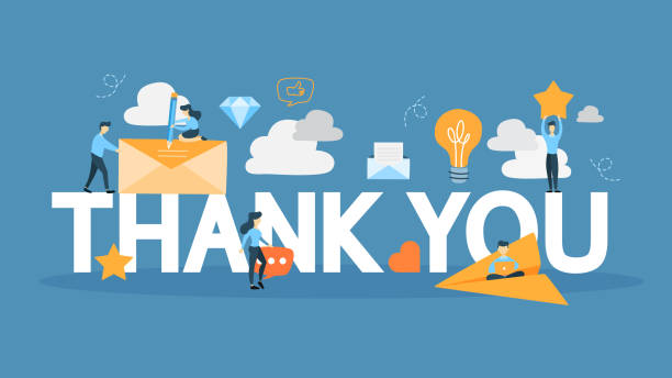 thank you sign - thank you stock illustrations