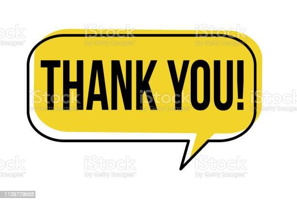 Thank You Speech Bubble — стоковая векторная графика и другие изображения на тему Thank You - английское словосочетание