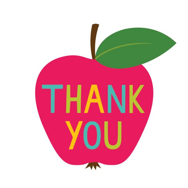 Thank you Teacher's Day card vector art illustration