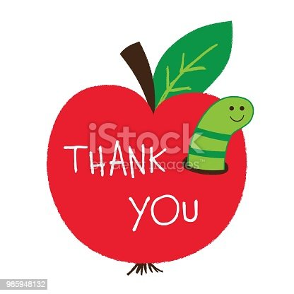 Thank you Teachers Day vector card
