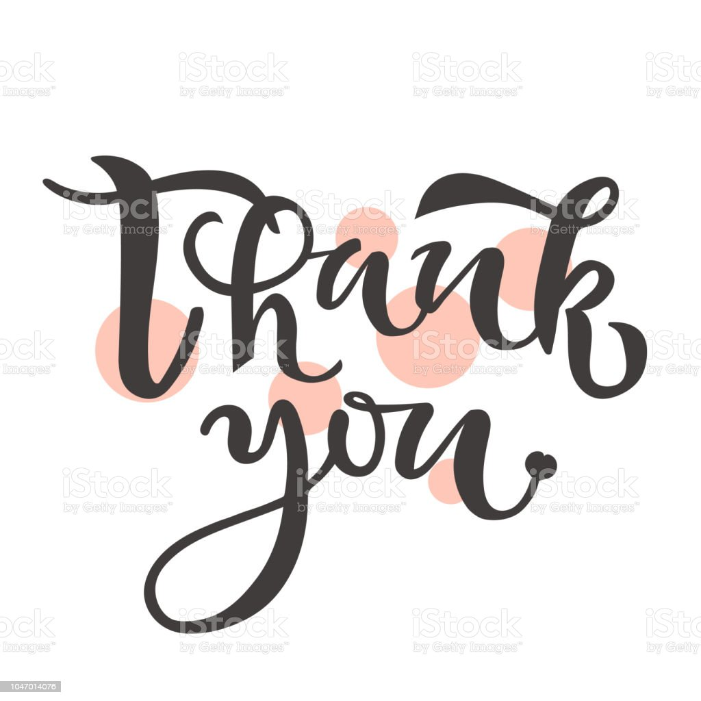 thank you text calligraphy lettering design typography for greeting