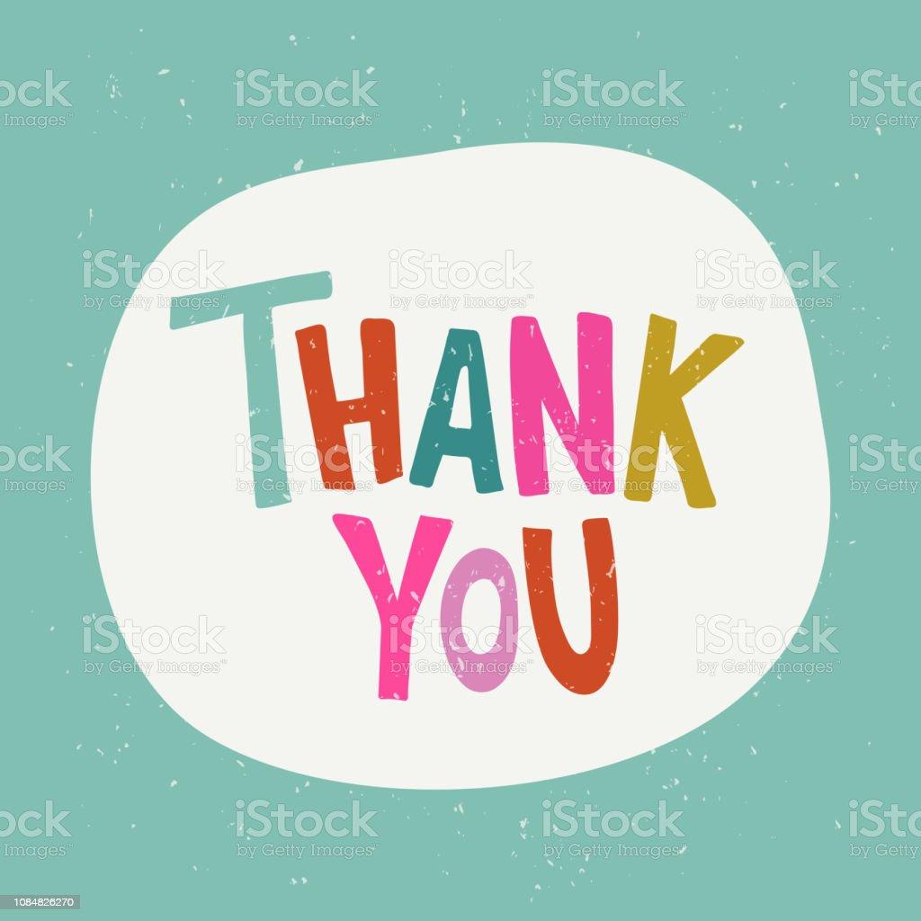 Thank You - Векторная графика Thank You - английское словосочетание роялти-фри