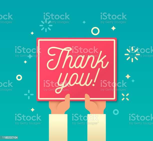 Thank You — стоковая векторная графика и другие изображения на тему Thank You - английское словосочетание