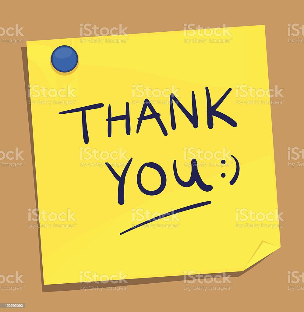 Thank You royalty-free thank you stock vector art & more images of adhesive note