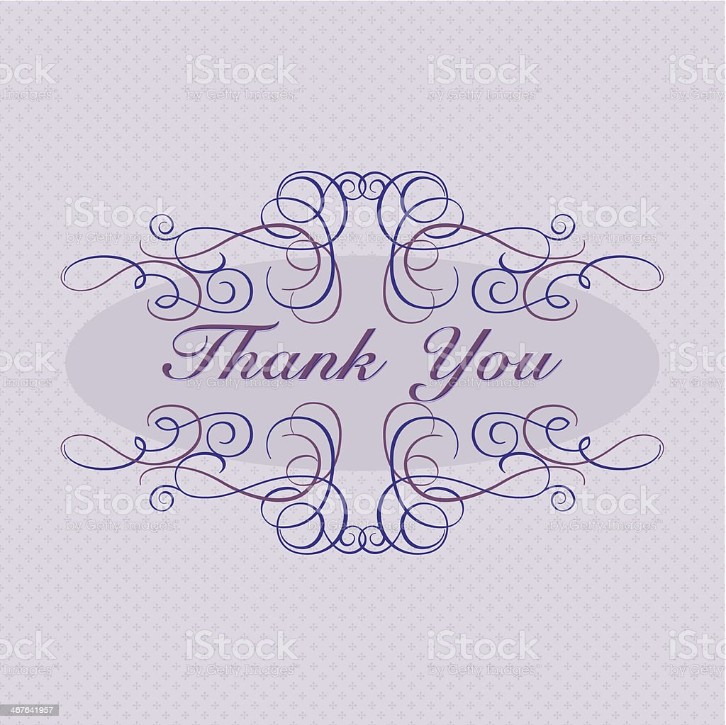 Thank You! (Greeting Card) vector art illustration