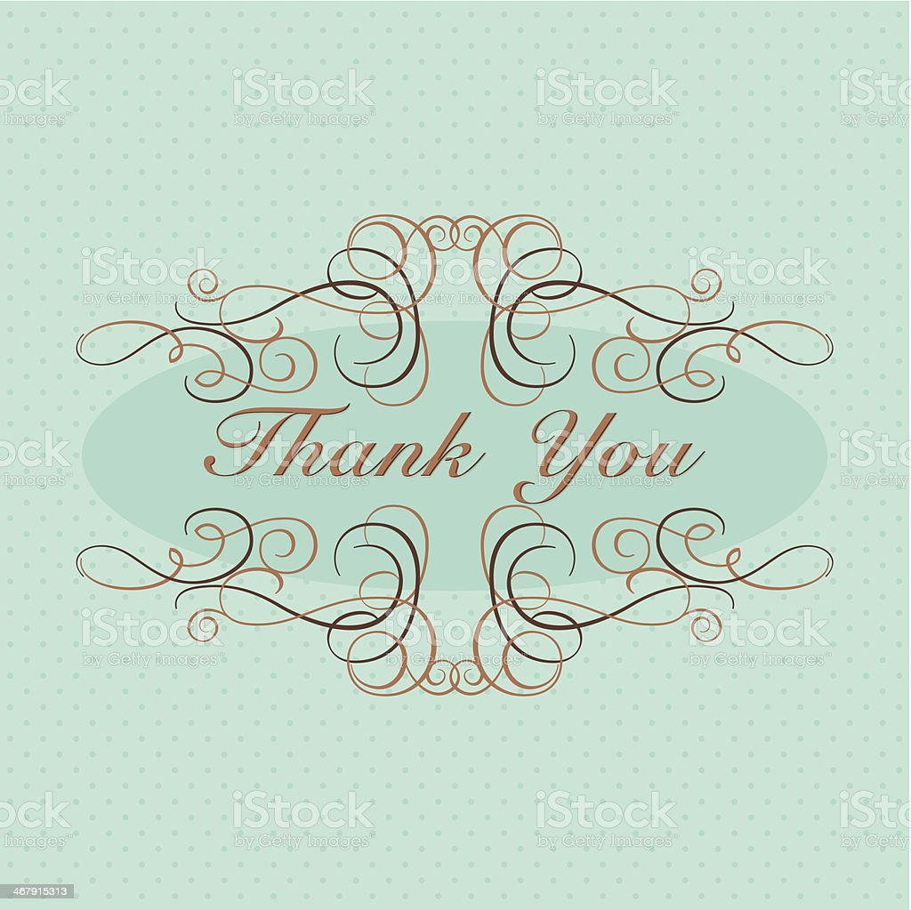 Thank You! (Greeting Card) royalty-free stock vector art